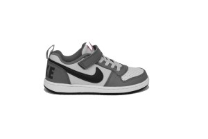 NIKE COURT BOROUGH LOW (PS) - 870025-006 - Sneakers bambino bassa in pelle