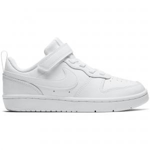 NIKE COURT BOROUGH LOW 2 (PSV) - BQ5451-100 - Sneakers bambino in pelle