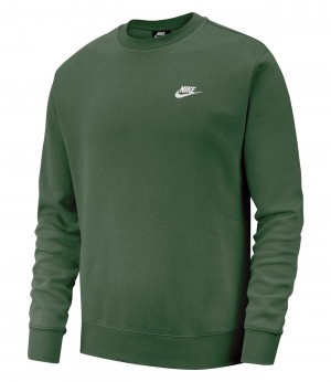 NIKE LONG SLEEVE TOP - BV2666-370 - Felpa uomo girocollo in cotone garzato